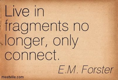 EM FORSTER QUOTES ONLY CONNECT image quotes at BuzzQuotes.com