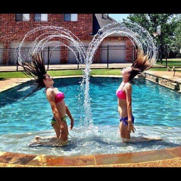 best friends hair in water  | Pinstrosity: Water Heart Head Flip