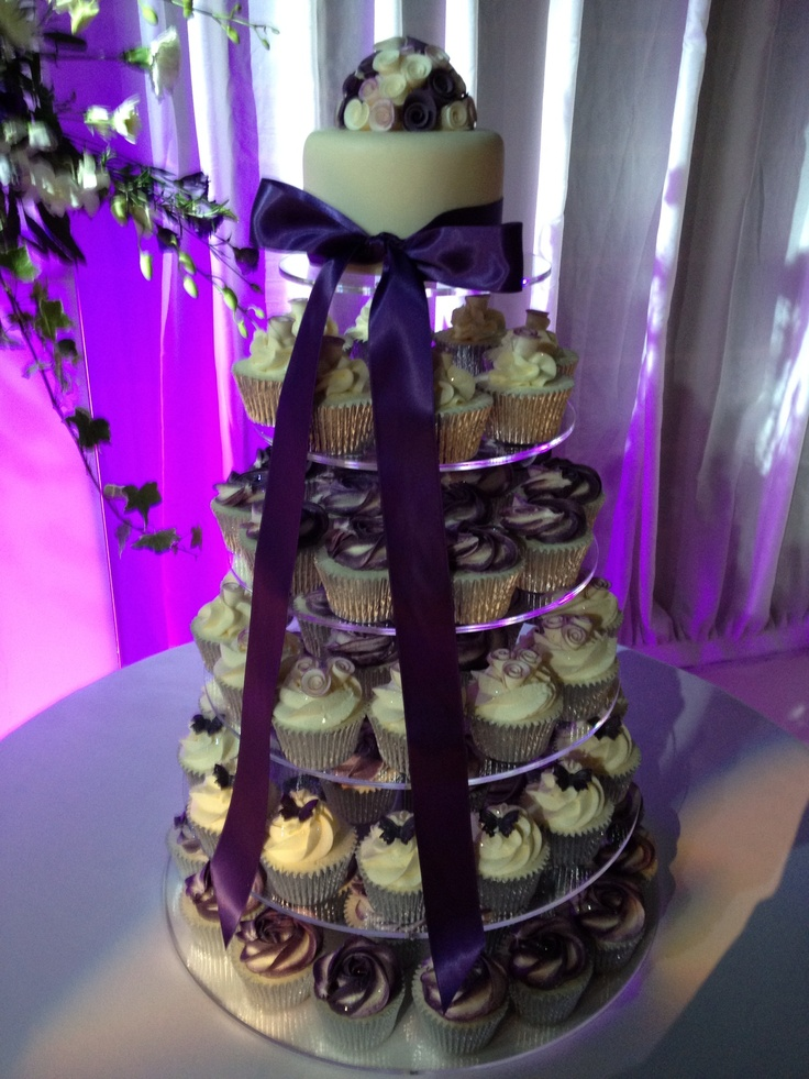 Cadburys Purple Wedding Cupcakes By Charlotte Jane Cakes