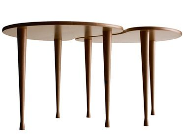 Palett relaunched, limited edition of 100 copies Curly birch veneer and birch. Size 58×46 cm, height 41 cm. Design Yngve Ekström, 1953. Swedese.