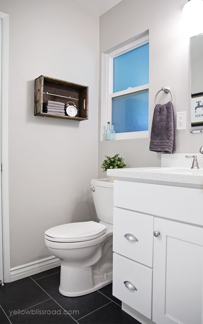 Small bathroom makeover reveal Small bathroom makeovers