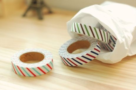 CANDY STRIPES, FABRIC WASHI TAPE R44 Add some fun and funk to cards, gifts, notebooks and your everyday life