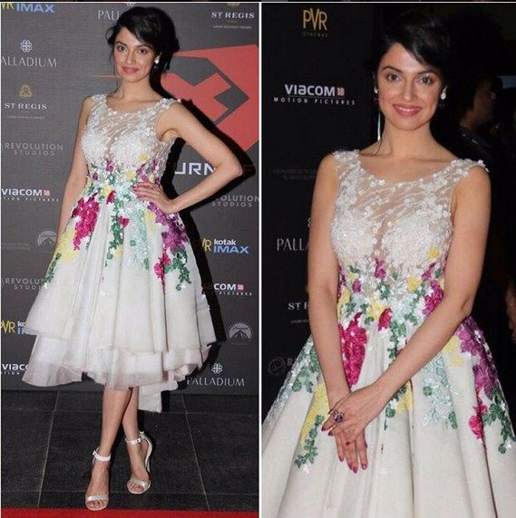 Divya In An Embroidered Frock.Mail Us contact@ladyselection.com