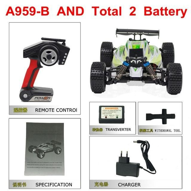 Best Seller 70KM/H 1:18 2.4G 4WD Car A959 Updated Version A959-B Remote Control RC Car Off-Road Buggy Highspeed VS a979 a989