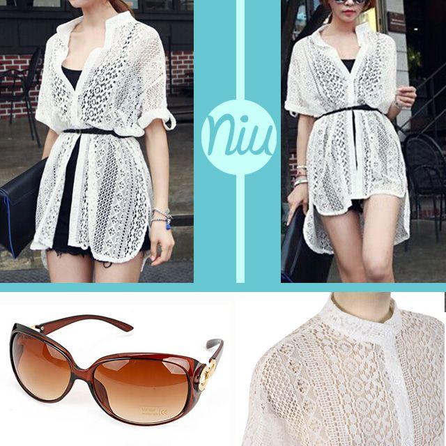 Para un outfit descomplicado, este bluson con sunglasses de tono café, encuentra esto y mucho más en: www.niuenlinea.co