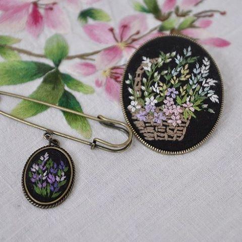 #야생화자수브로치 #들꽃자수 #브로치 #embroidery