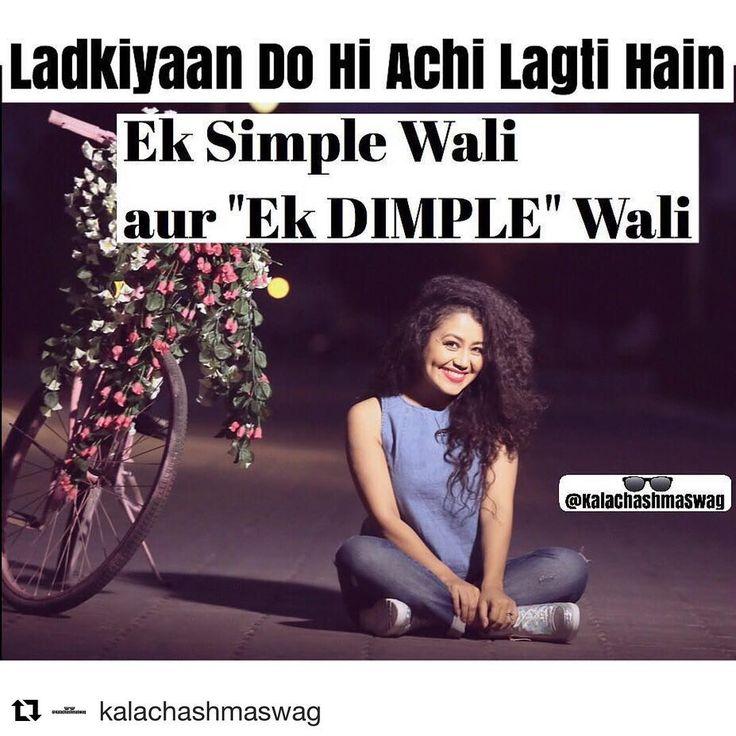 Awww.. ☺️ #Repost @kalachashmaswag ・・・ #Smile #Dimple  @nehakakkar