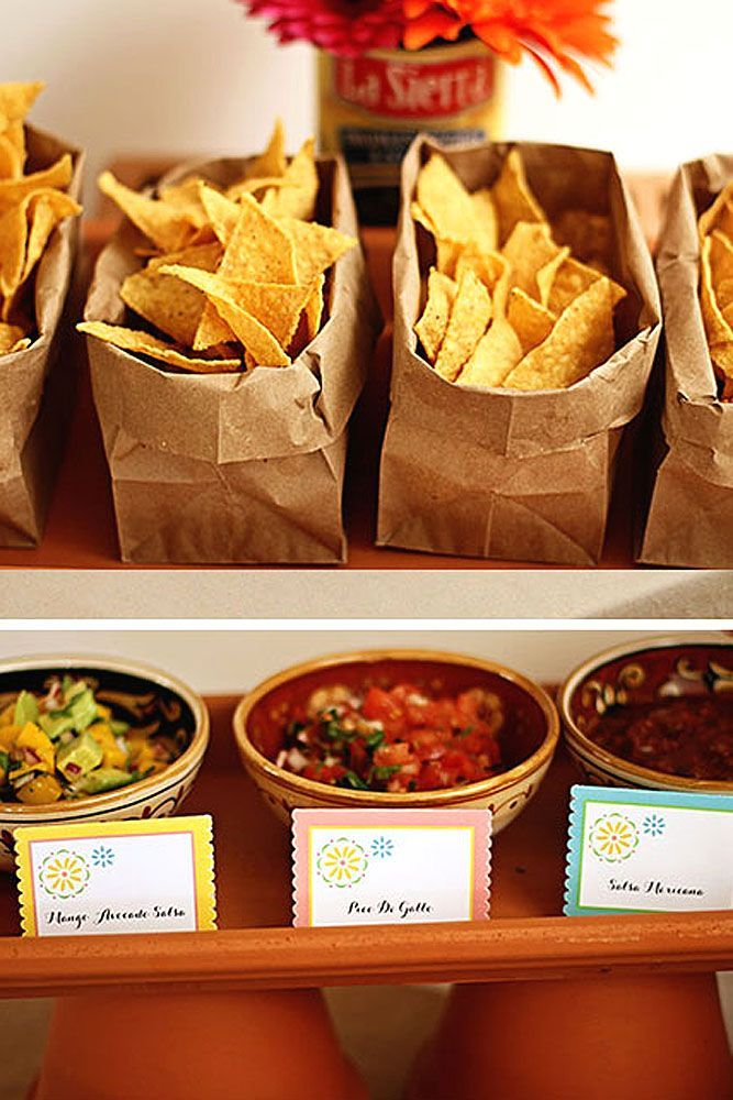 How To Decorate Wedding Taco Bar ❤ Taco bar is something unusual and fun. So, why not make your wedding with a taco bar? See more: http://www.weddingforward.com/wedding-taco-bar/ #wedding #decor #tacobar