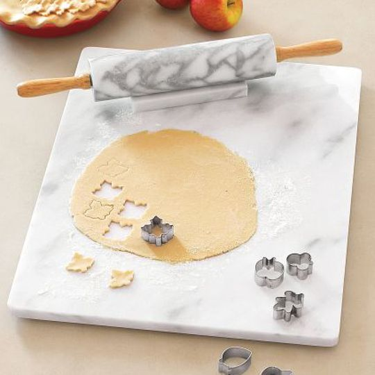 When chilled, a marble surface is ideal for keeping dough from sticking -- particularly when youre not keen on adding too much extra flour. If youre an avid baker, its an essential tool to have in your kitchen. And you can get one for around $30!