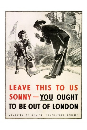 You Ought To Be Out Of London War Print 1940s £7.99
