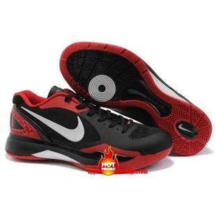 Cheap Nike Zoom Hyperdunks 2011 Low Top Pe Black And Red And White 487638  002