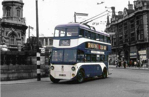 Hull Corporation Transport trolley bus.