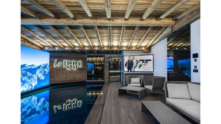Chalet Le 1550 - Book this luxury Chalet in Courchevel Village, France through Ski In Luxury. Features gym facilities, sauna, swimming pool and fireplace.