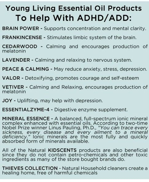 Young Living Essential Oils:  ADD ADHD