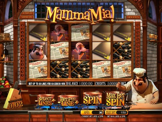 Mamma Mia 3D Slot Machine. Play this amazing 3D 5-reel slot game at SweetBet