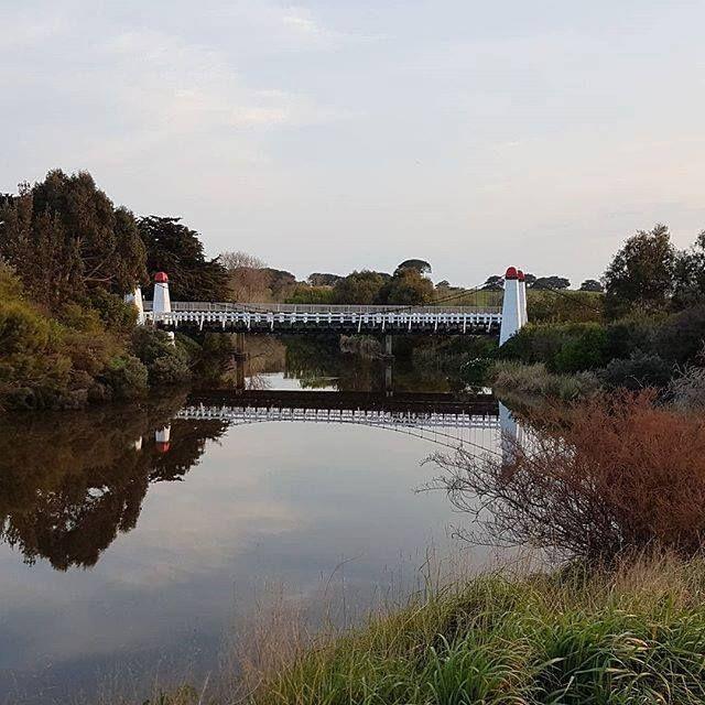 Wollaston Road Bridge over the Merri River  by @suckers16 #warrnambool #love3280 #destinationwarrnambool #wollastonbridge http://ift.tt/2DxzRVR