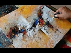 Abstract painting / textured with gesso / Acrylic abstract painting demonstration - YouTube