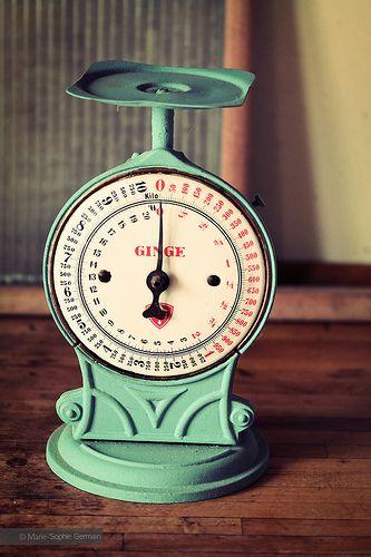 Old danish kitchen scale