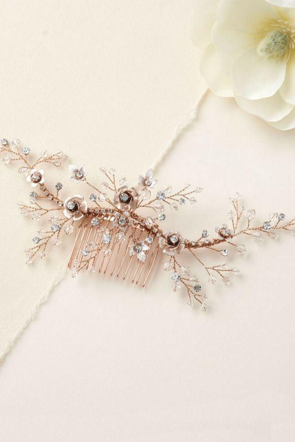 b806c4aa7 Blossoming florals and shimmering gems make Kylie Bridal Comb enchanting in  every way. The nature