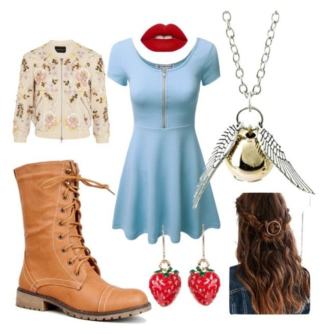 """#3"" by matilda-key on Polyvore featuring Nature Breeze, Lime Crime, Needle & Thread, Lady Fox, women's clothing, women, female, woman, misses and juniors"