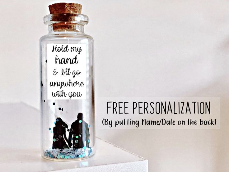 Personalized Gift for boyfriend Anniversary Birthday Valentines Day Gift for him Men Message in a Bottle Long Distance Cute Gift Lesbian