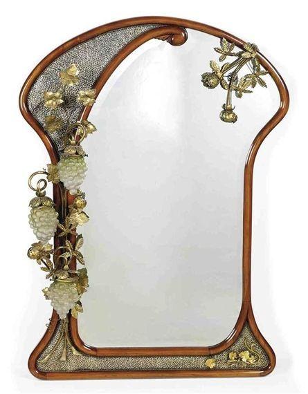 Mirror with lights art nouveau pinterest light art for Miroir art nouveau