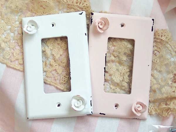 Shabby Chic Plug In Covers