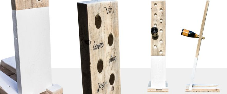 Custom 10 bottle wine rack.  Made from recycled american pine.