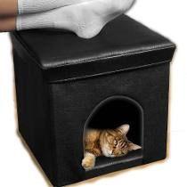Cubo Casita Minimalista Decorativo Mascota Perro Gato Vbf