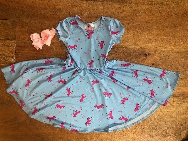 NEW Dot Dot Smile Ballerina Twirly Dress Summer Knit Girls Heart Printed