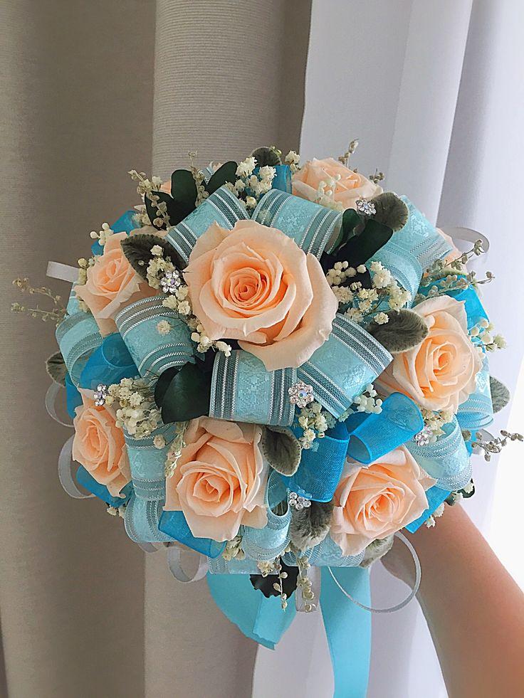 Свадебный букет 💐 для невесты 👰 с неувядающими цветами останется с ней надолго💕💕💕 или просто прекрасное украшение интерьера 💐💕💕💕