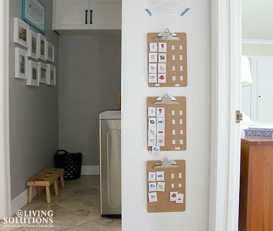 Simple Picture Chore Charts for Young Kids
