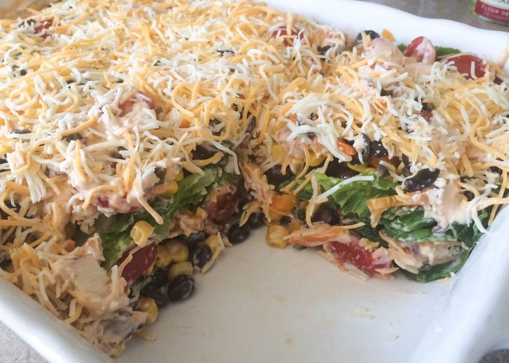 ... Layered, Dinner Ideas, Salad Meeting, Bbq Ranch Chicken Layer Salad