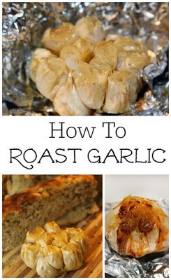 How to roast garlic - perfect for topping bread, dips, and veggies!