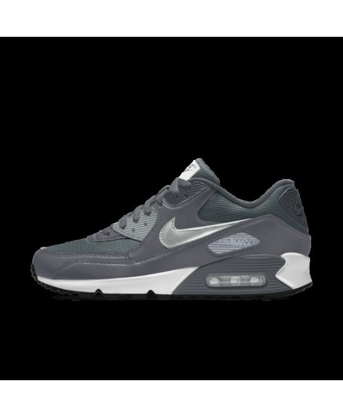 the best attitude b1a20 b800a Nike Air Max 90 Essential Id Dark Grey Dark Green Metallic Silver Womens  Shoes Outlet