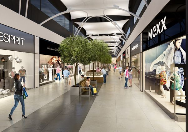 Shopping mall interior visualisation.