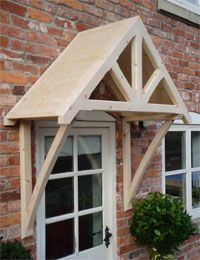 The Whitemere wooden door canopy