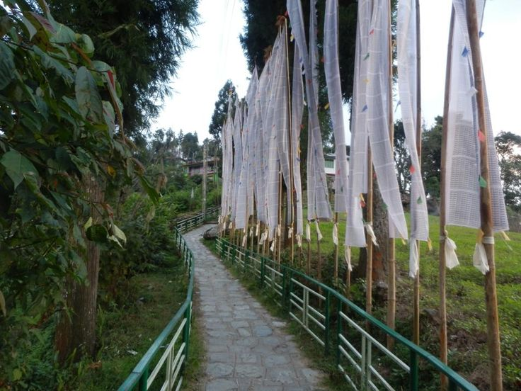 Walking up to Tashiding Monastery to spend some time in meditation in the Himalayas.  http://www.TaoJourneys.com