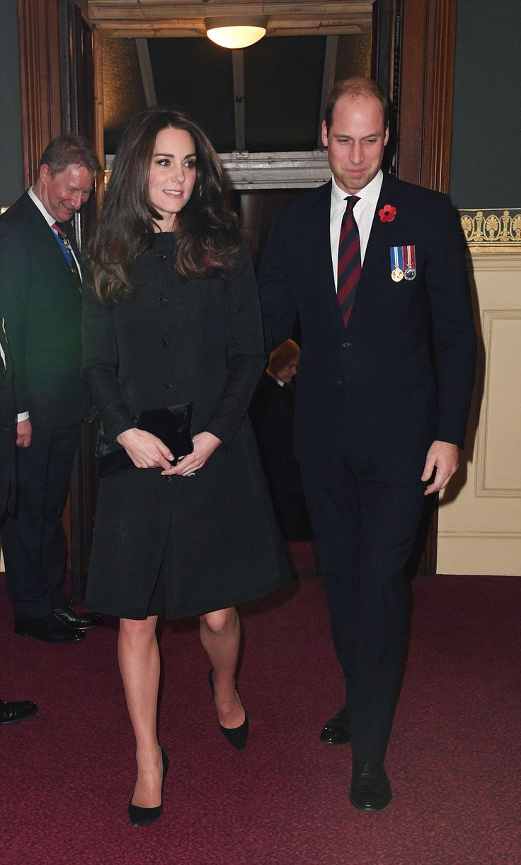 Britain's Catherine, Duchess of Cambridge (L) and Britain's Prince William, Duke of Cambridge (R) arrive at the Royal Albert Hall for the annual Royal Festival of Remembrance in central London on November 12, 2016.