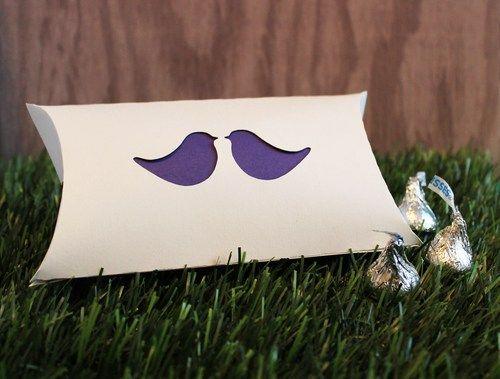 Wedding Favor Pillow Boxes Love Bird Accent Set of 25 | tiffzippy - Wedding on ArtFire