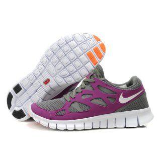 Billig AAA Grade Dame Nike Free Run Plus 2 Violet Sko