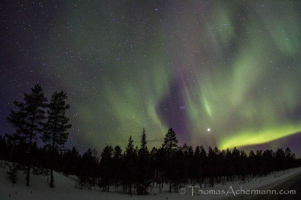 Aurora boreal por Thomas Achermann. Finlandia. 24/03/2012
