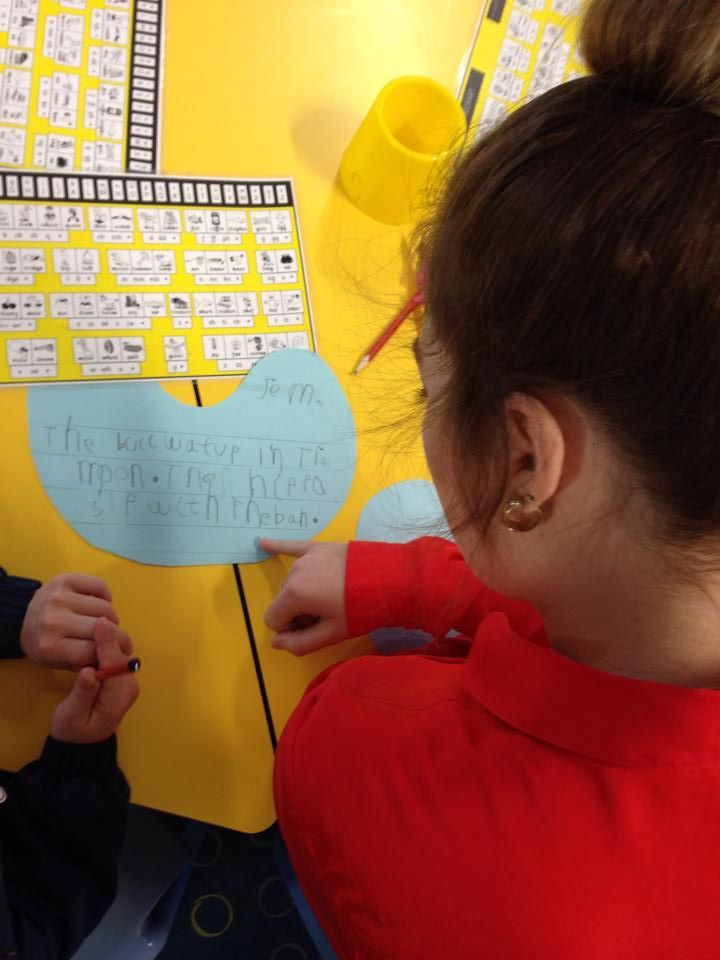 Sentence writing using the Thrass chart