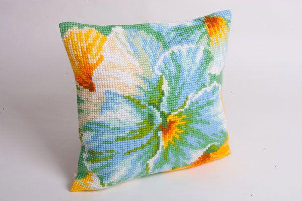 Collection d'Art:5.094 - Printemps - large count cross stitch cushion kit - On Sale Now - 40% Discount - Original Retail Price $40.00