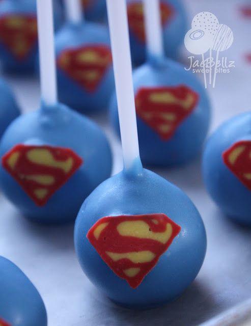 Superman cake pops..or batman or other super hero