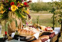 Fresh Breads and Infused Olive Oil dipping station for a wedding at Isom's Orchard in Athens, AL