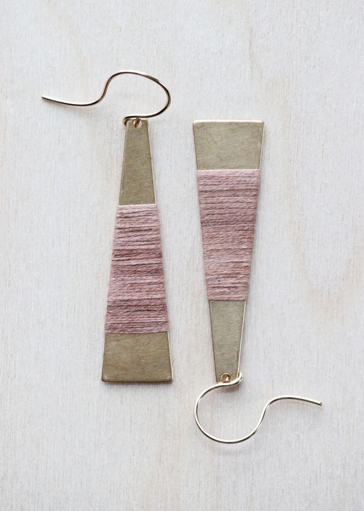 Wrapped Brass Earrings | forestiere on Etsy