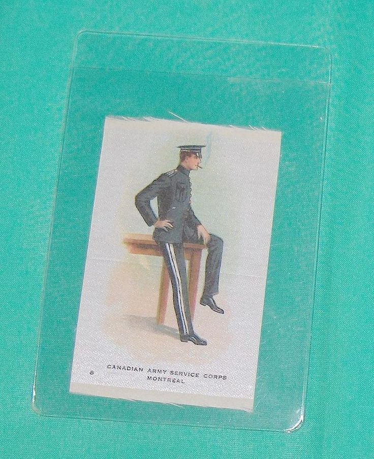 Canadian Army Service Corps Montreal  Vintage Cigarette Silk Number  8
