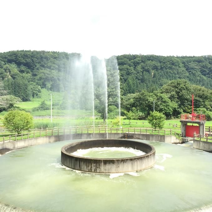 @ 日本最大級の円筒分水工