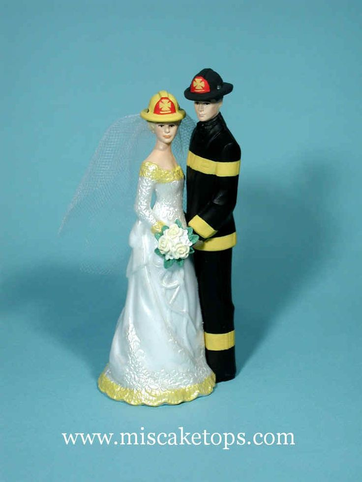 female fire fighter wedding cake topper | Firefighter Examples of Personalized Cake Tops